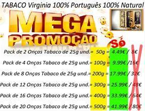 Tabaco Virginia 100%Português 100% Natural  Perfumes e Tabaco -----» BARATO   Os Melhores Preços do Mercado !  www.PortoPrecoJusto.LojasOnLine.net