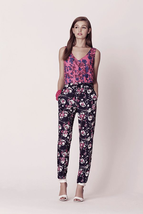 The Oasis Floral Stripe Top. £28. Available mid May. The Oasis Floral Trouser. £38. trousers are beaut!