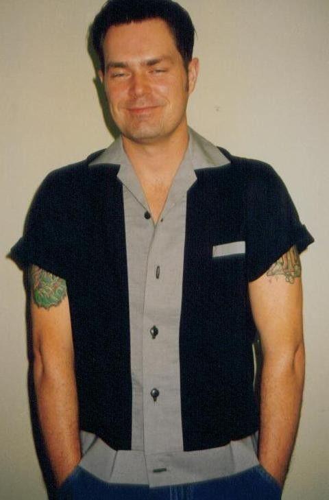 Men's Rockabilly Shirt Jac Grey & Black by LennyShirts on Etsy, $32.99