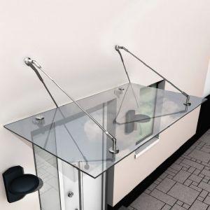 Marquise 150x90 auvent en verre design contemporain - Marquise de porte d entree castorama ...