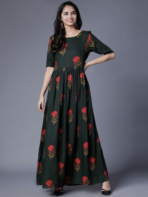 Cotton anarkali dress