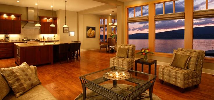 Panoramic views of Okanagan Lake from your living room in Kelowna, BC!