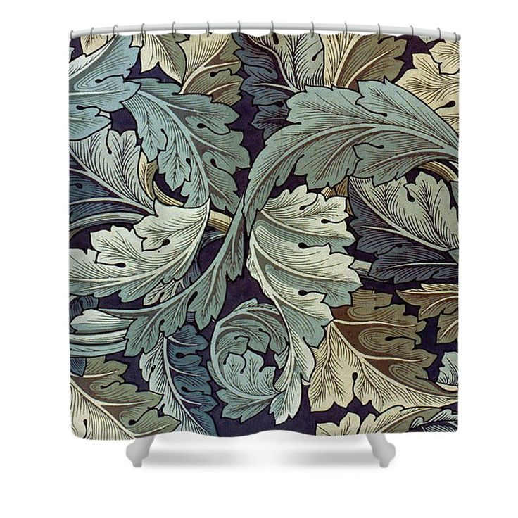 Acanthus Leaf Design Shower Curtain for Sale by Philip