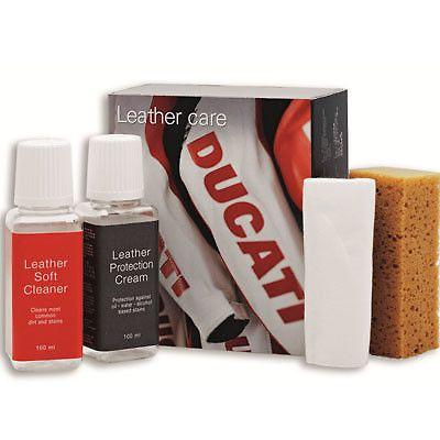 Zestaw zawiera produkty do pielęgnacji skóry i wyrobów skóropodobnych. #ducati