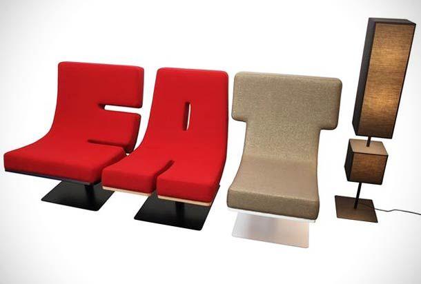 """La collection """"Typographia"""" du studio de design TABISSO, est un joli mélange de design d'intérieur et de typographie. Cette collection vous propose de combine"""