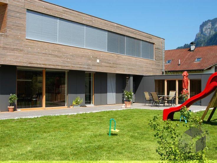 Langen von Holzhaus Roßkopf | Cubus Haus | Flachdach