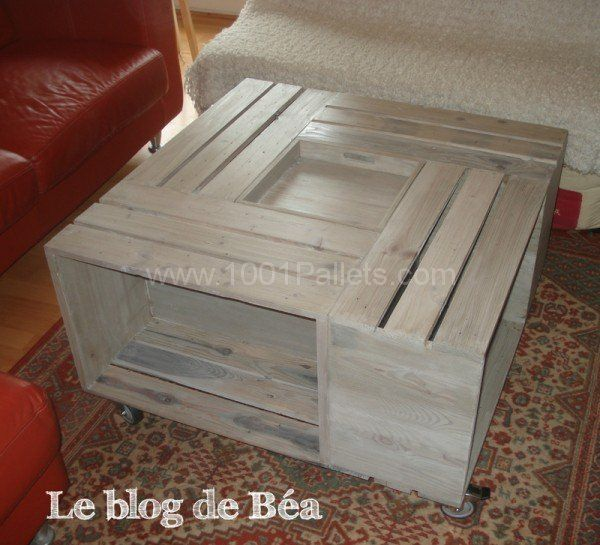 1000 ideas about table basse bar on pinterest wooden bar meuble en chene - Table bois de palette ...