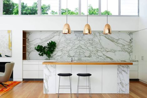 u shaped kitchen raked ceiling - Google Search