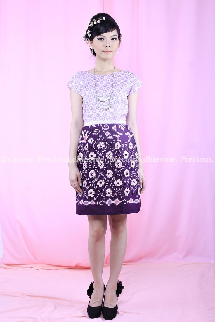 Batik Dress   Lace Dress   Dress Kebaya  Serendibite Lila Dress   DhieVine   Redefine You