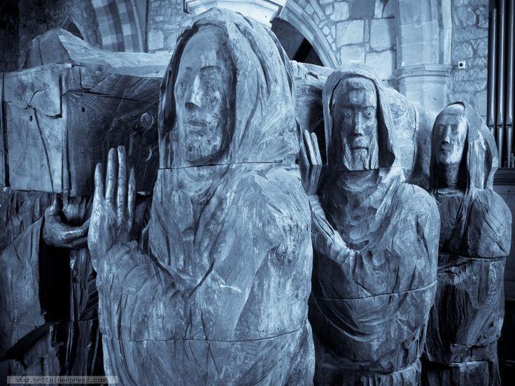 Lindisfarne Church Carving Holy Island, Northumberland, England
