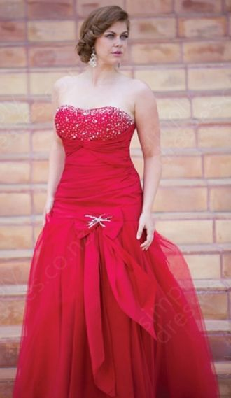 Trumpet/Mermaid Strapless Tulle Floor-length Red Beading Evening Dress at http://www.simplydresses.co.nz/trumpet-mermaid-strapless-tulle-floor-length-red-beading-evening-dress-spd-169.html