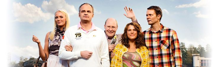 Solsidan - good luck fishing rod mass The millennium, the most popular sitcom in Sweden in order