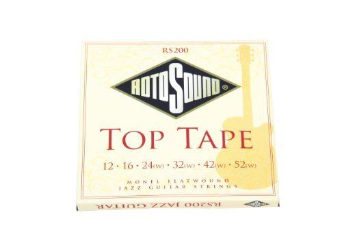 Rotosound RS200 Top Tape Monel Flatwound Electric Guitar String (12 16 24 32 42 52) by Rotosound. $11.95. MONEL FLATWOUND 12 16 24 32 42 52