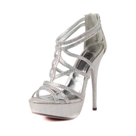 Shop for Womens Shi By Journeys Spice Heel in Silver at Journeys Shoes. Shop today for the hottest brands in mens shoes and womens shoes at Journeys.com.The Spice heel from Shi by Journeys is a dazzling pump of strappy proportions. Perfect for special occasions and encrusted with multicolored rhinestones. 4.5 heel, 1 platform.