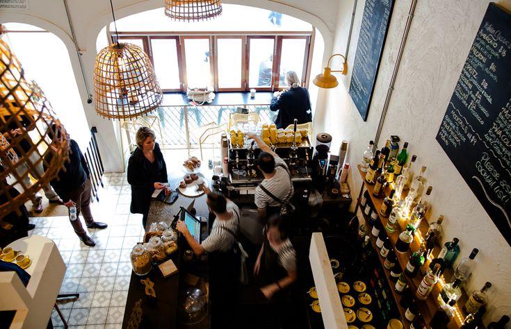 La Moka Café + Aperitivo Bar in Peel Street.