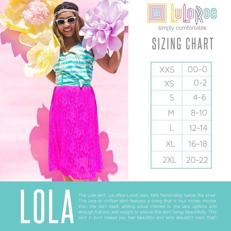 Lola size chart https://www.facebook.com/groups/KimandJanelleLuLaRoe/