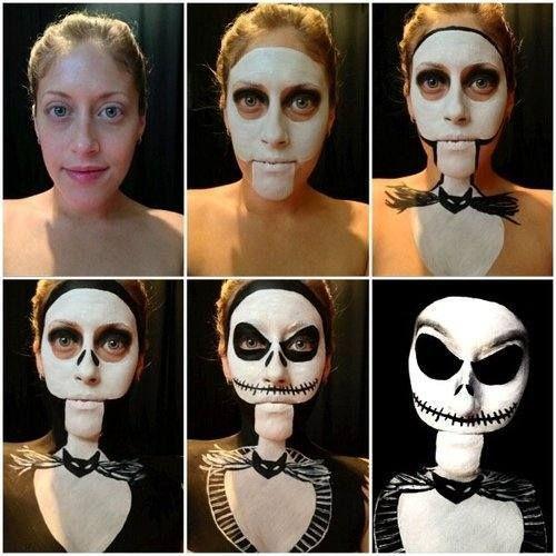 Amazing Jack Skellington makeup
