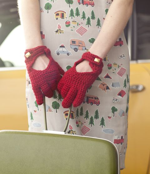 Driving Gloves Knitting Pattern : 18 Best images about Crochet Today July/August 2013 on ...