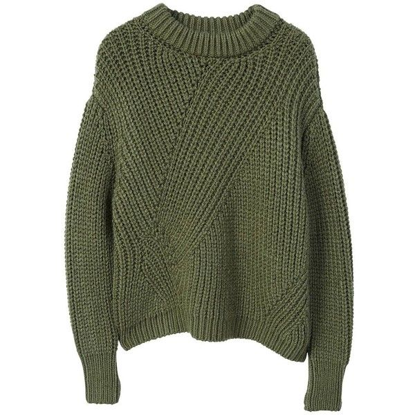 32b30eeb6 Chunky-Knit Sweater (3.175 RUB) ❤ liked on Polyvore featuring tops ...