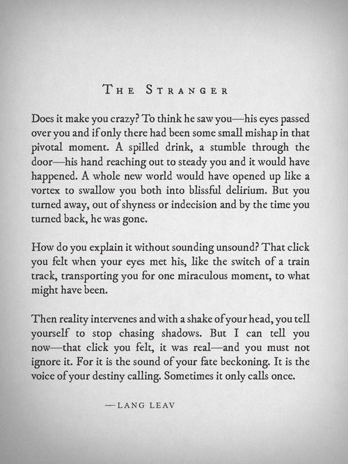 The Stranger by Lang Leav