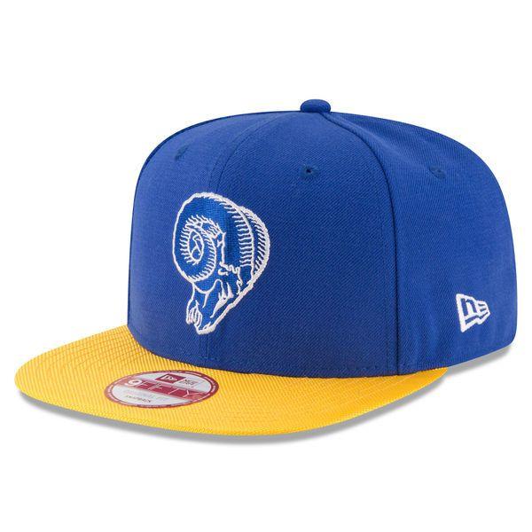Men's Los Angeles Rams New Era Blue Sideline Classic 9FIFTY Snapback Adjustable Hat
