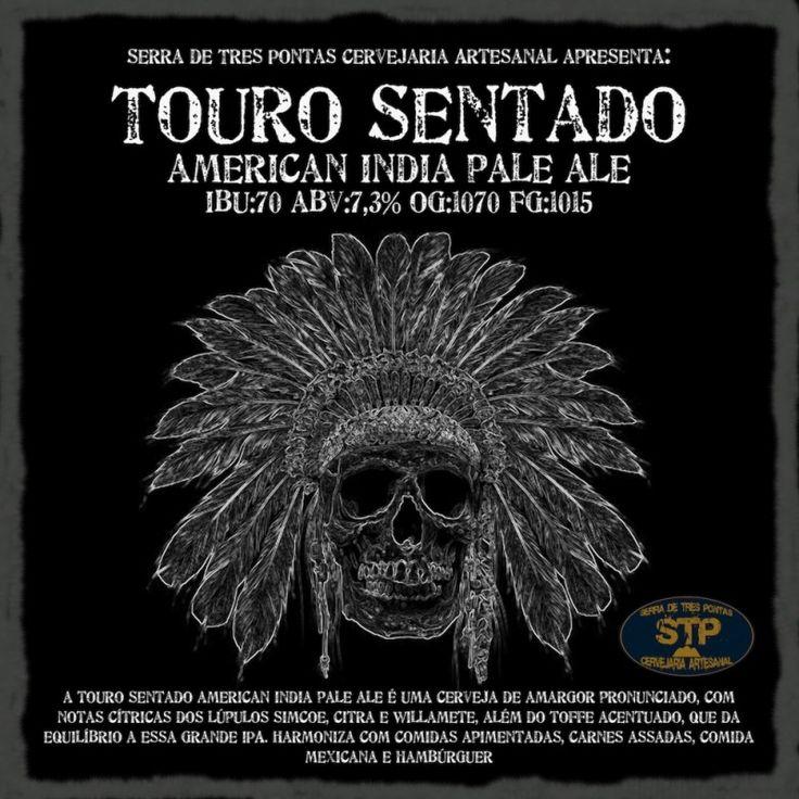 Cerveja Touro Sentado American IPA, estilo American IPA, produzida por  Cervejaria Caseira, Brasil. 7.3% ABV de álcool.