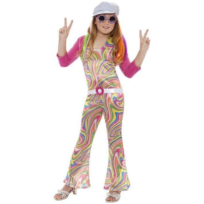 Disfraz de chica de discoteca para niña