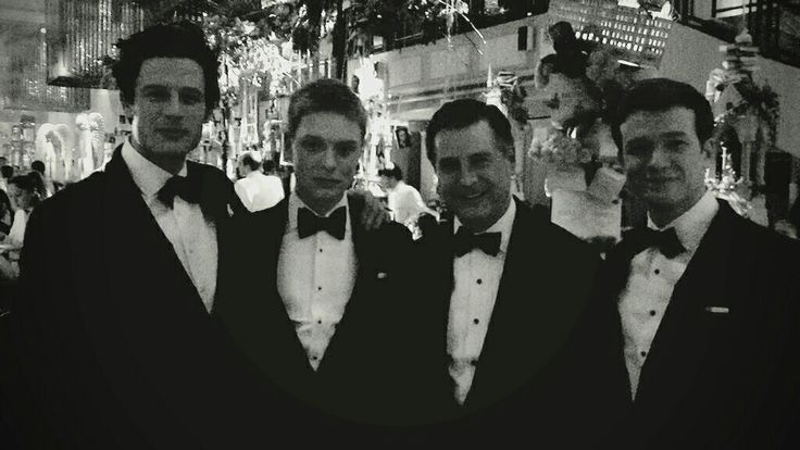 Dressed to the nines. Jeremy Hackett with James Norton, Freddie Fox and Ed Speleers, all wearing #Hackett. https://twitter.com/HackettLondon/status/564567680498565120