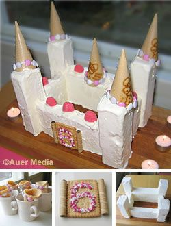 Picture: A cake for a princess party - An ice cream castle