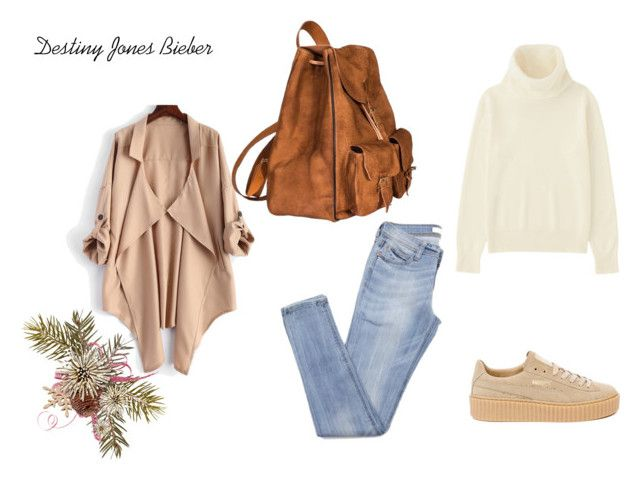 Cassie by madisongglm on Polyvore featuring Uniqlo, Puma and Yves Saint Laurent