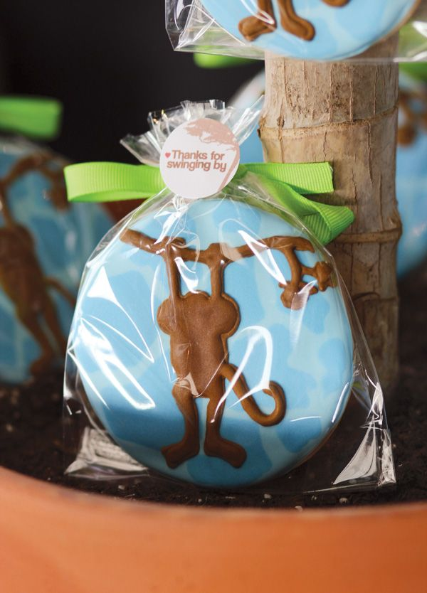 party favor, like the iced cookie idea as a treat instead of candy for kids after party.