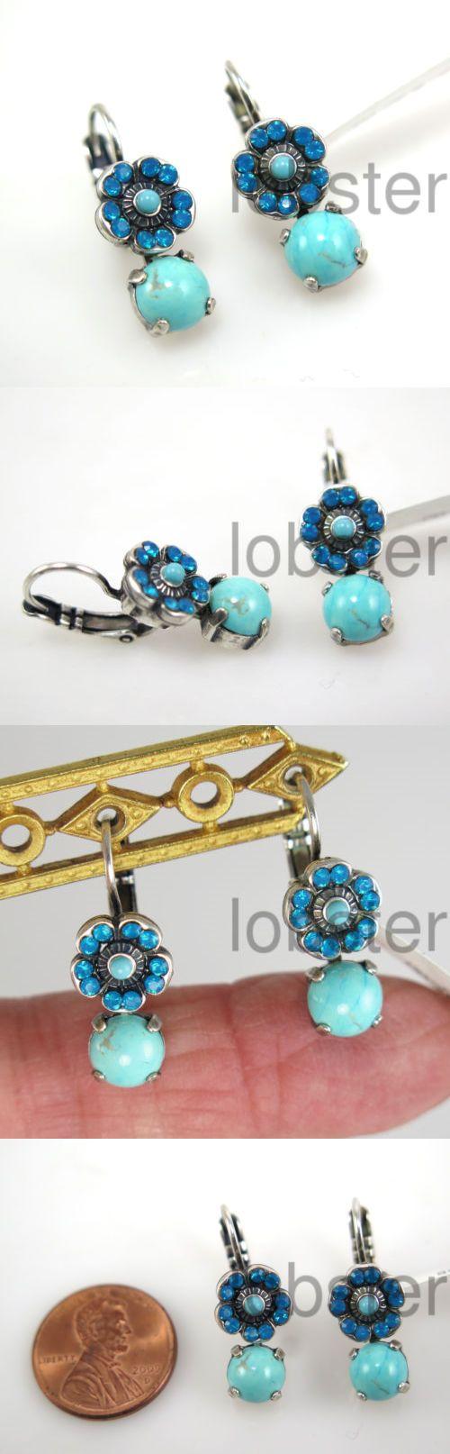 Earrings 110645: Mariana Africa Zambezi Silver Dangle Earrings Swarovski Crystal Blue Turquoise -> BUY IT NOW ONLY: $37 on eBay!