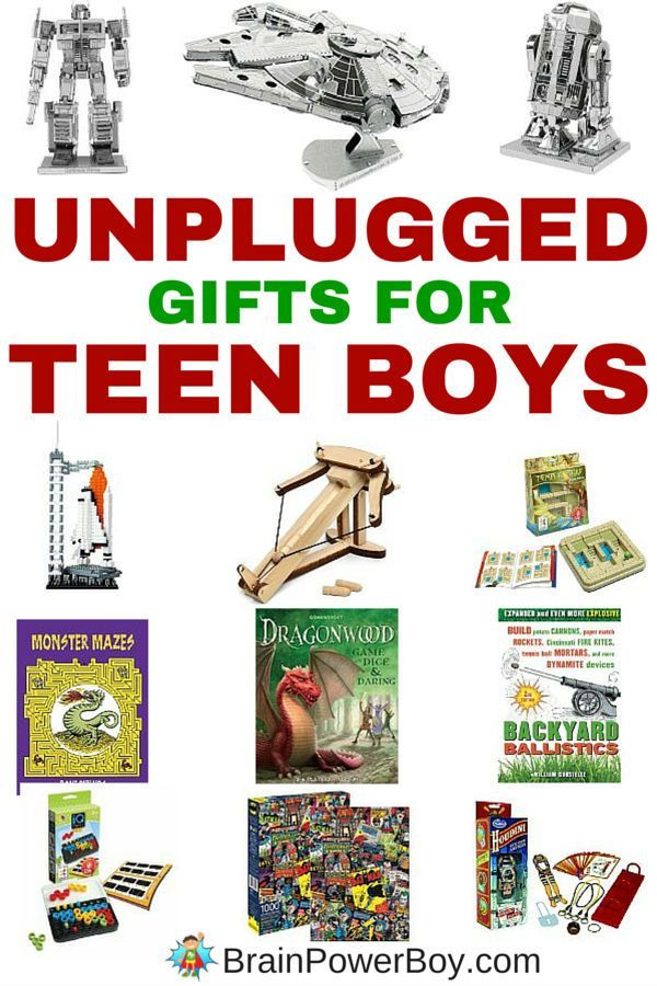 Looking for a cool non-electronic gift for a teen? Try these amazing unplugged gifts for teen boys! See boy-approved gift choices that they are going to love. All of these have a learning twist and they are all under 20 bucks too. Click to see the complete list.