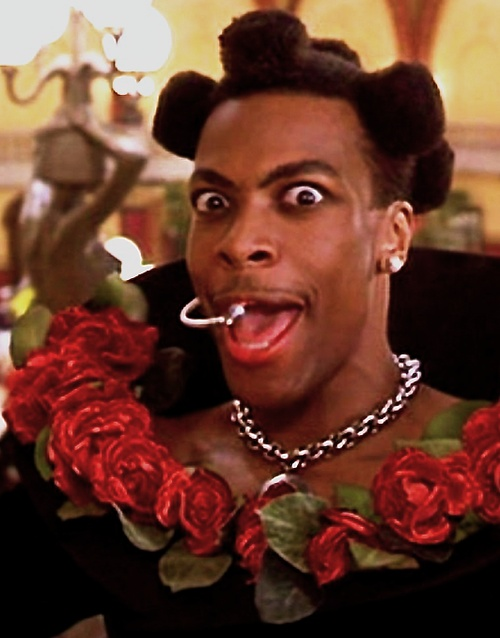 a wig but still iconic || Chris Tucker as Ruby Rhod in The Fifth Element (1997)