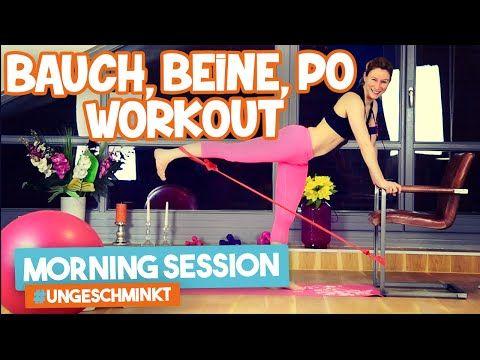 Bauch Beine Po Training für zuhause   Morning Session #ungeschminkt   VERONICA-GERRITZEN.DE - YouTube