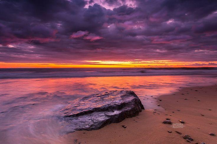 Cape Cod National Seashore sunrise at Nauset Light beach in Eastham Massachusetts. Photo by Dapixara https://dapixara.com