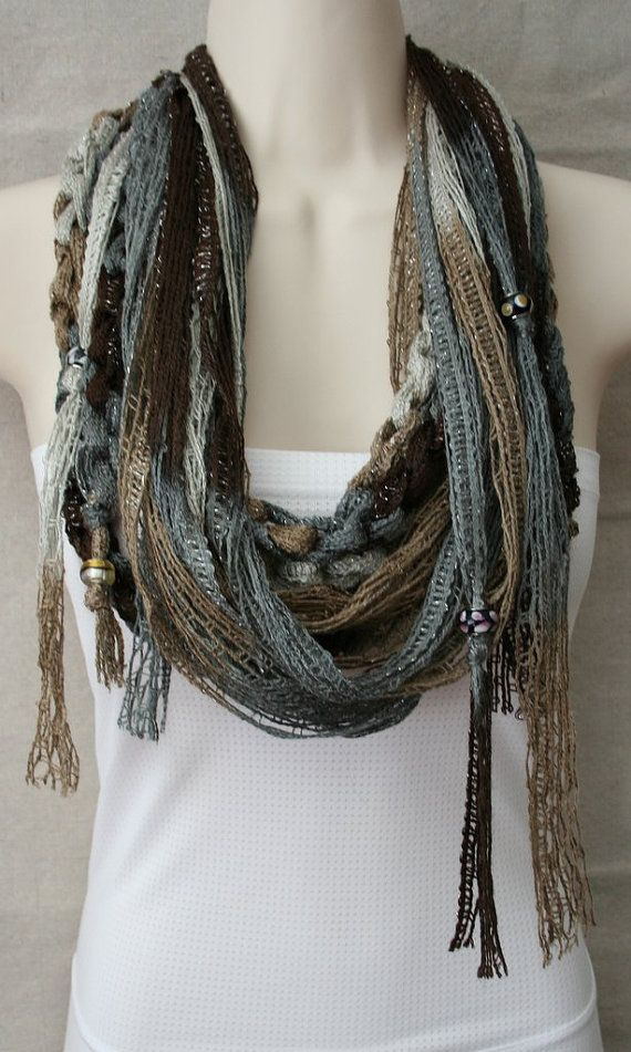 Fun and Flirty, Elegant and Light.  Circle Scarf to Class Up or Sass Up Any Outfit, Any Time. on Etsy, $22.00