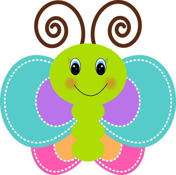 Resultado de imagen para mariposas animadas infantiles rosadas