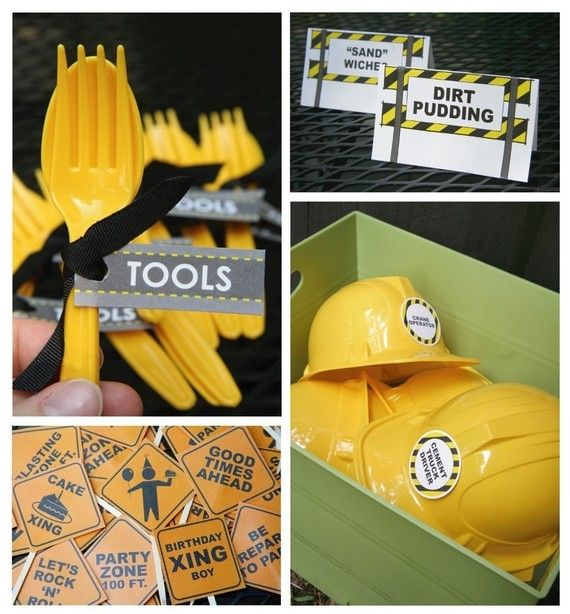 PRINTABLE CONSTRUCTION themed party pack  by chachkedesigns, $25.00