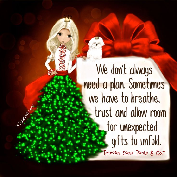 We don't always need to have a plan. Sometimes we have to breathe and allow room for unexpected gifts to unfold. ~ Princess Sassy Pants & Co