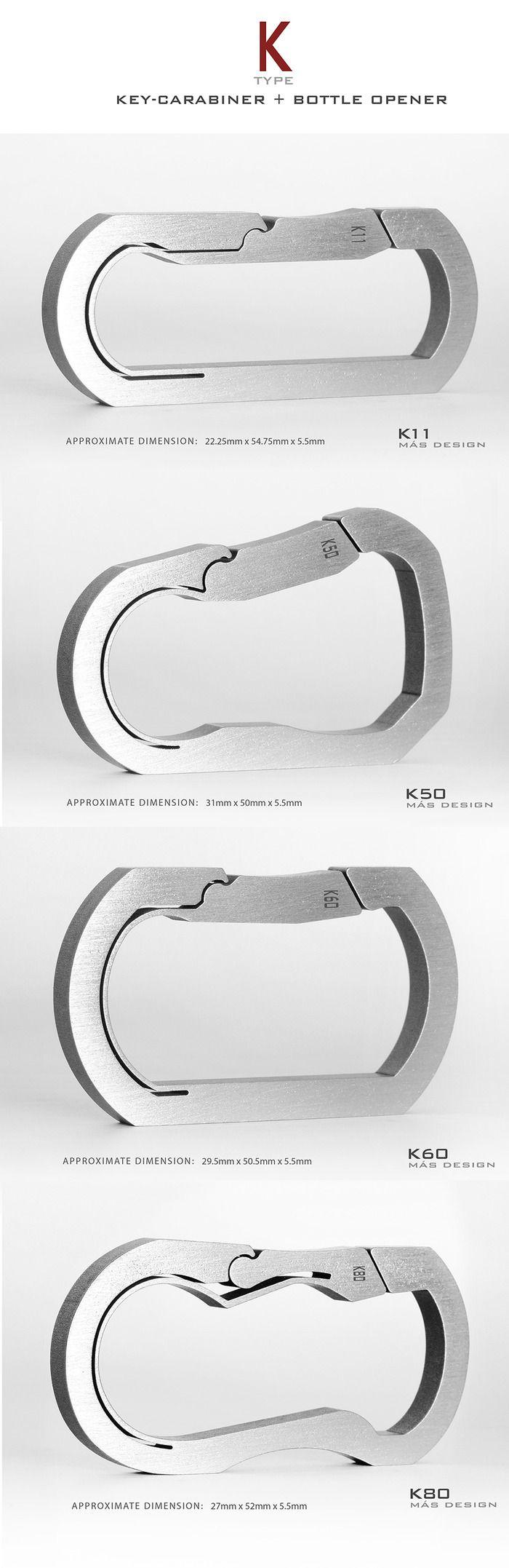 BAUHAUS: Titanium Keychain / Key Carabiner by THANASIT (SUNNY) INKAVESVAANIT — Kickstarter