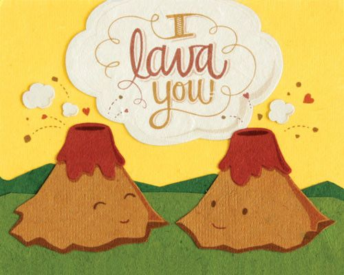 """This I Lava You handmade greeting card is cute and corny, a best seller! Blank inside to write a personal message. - Handcrafted in the Philippines - 4.5"""" x 5.75"""" Handcrafted by women survivors of sex"""