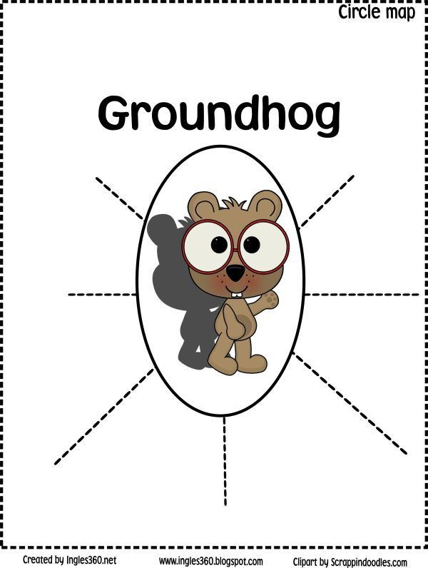 Classroom Freebies: Groundhog circle map and tree map printables for Groundhog Day