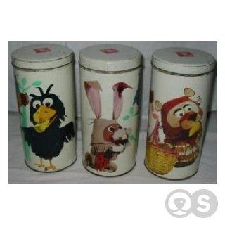 Bolletje beschuit Fabeltjeskrant cans. Got the complete set (4 cans).