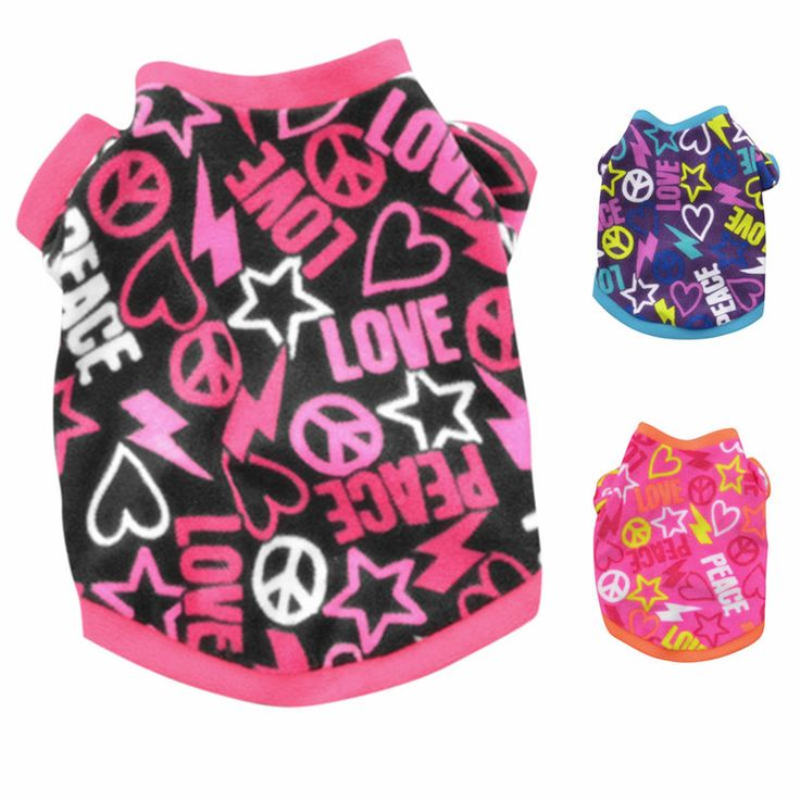 New Warm Fleece Dog Clothes Graffiti Style Pet Cat Sweatershirt Coat Puppy Sweater Teddy Pamajas Chihuahua Spring Coats Paras 14