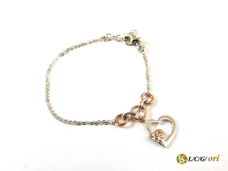 Bracciale argento 925 cuore