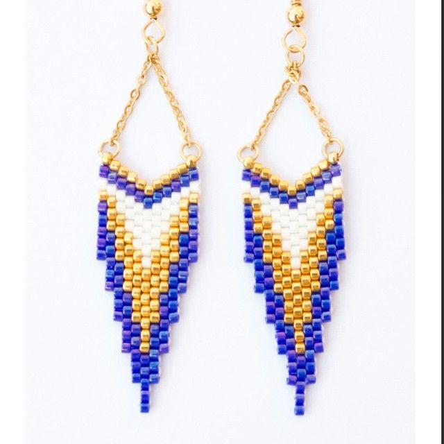 """48 kedvelés, 5 hozzászólás – Marina (@artistic.bracelet) Instagram-hozzászólása: """"Artistic Bracelet vous propose aussi des boucles d'oreilles. Ici la gamme CLEO en indigo, or et…"""""""