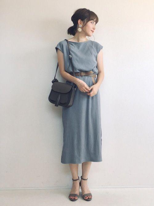 2f6cd56cf0379 くすみブルーにベージュ小物♡ ⭐️Instagram(検索→terawear) コーディネートの別