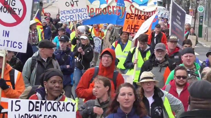 Philadelphia- Exclusive Democracy Spring Ground & Aerial Footage