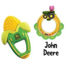 John Deere has come rolling into Cravings!! The Vibrating Corn Teether and Tractor Rattle will be Babies new favourites!